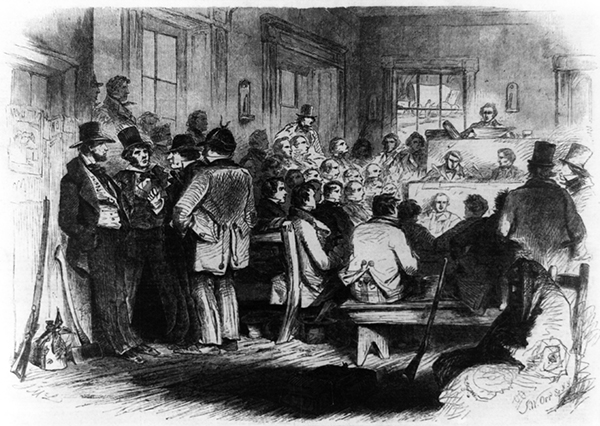 Illustration of the Topeka Constitutional Convention. Courtesy of the Library of Congress.