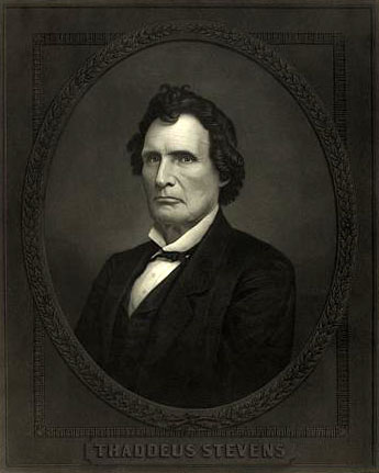 Representative Thaddeus Stevens introduced the Habeas Corpus Suspension Act in December 1862. Image courtesy of the Library of Congress.