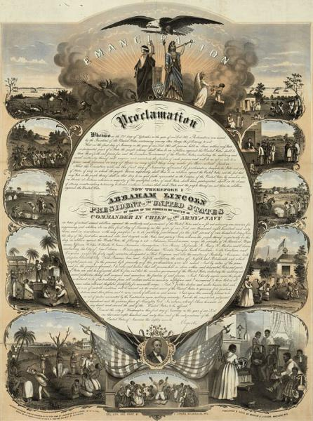 Text of the Emancipation Proclamation. Courtesy of the Library of Congress.