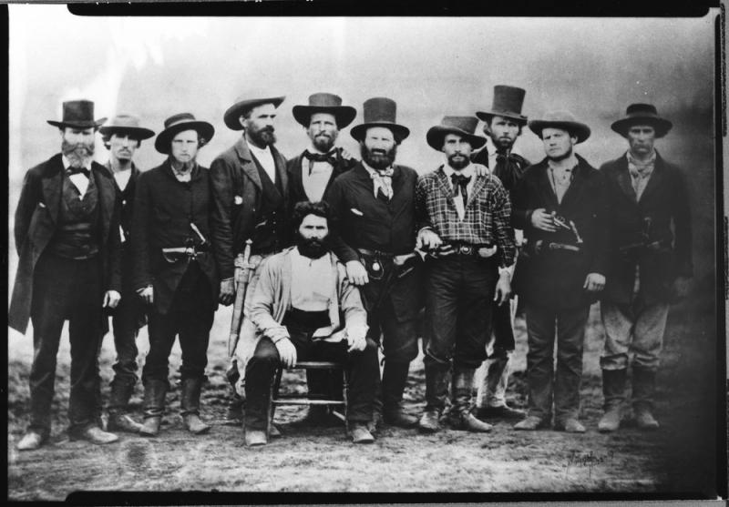 John Doy and his rescue party. Courtesy of the Kansas Historical Society.