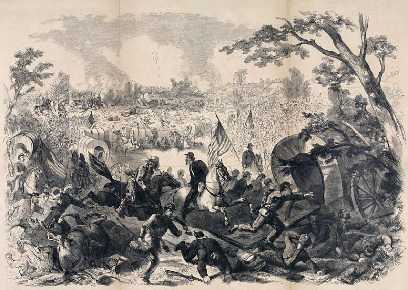 The First Battle of Bull Run. Courtesy of the Library of Congress.