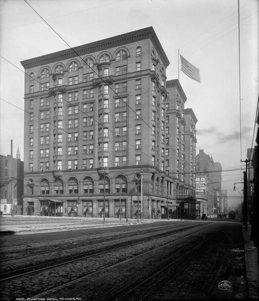 The Planter's House Hotel, St. Louis. Courtesy of the Library of Congress.