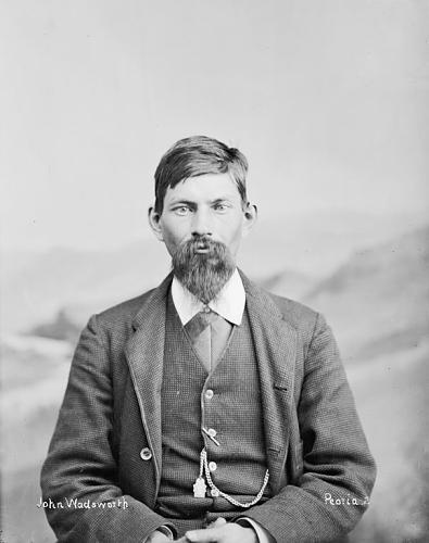 John Wadsworth, a member of the Peoria tribe. Courtesy of the Smithsonian Institution.