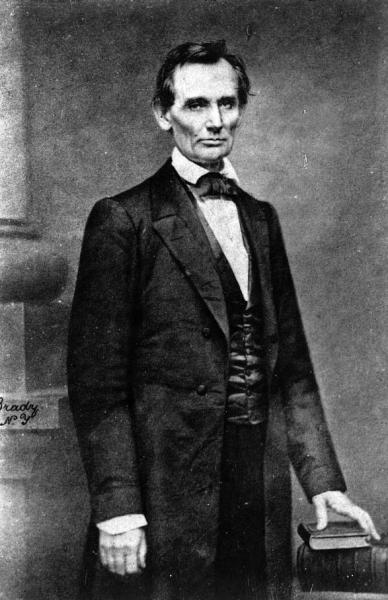 A photograph of Abraham Lincoln, taken before he delivered his speech at Cooper Union. Courtesy of the Library of Congress.