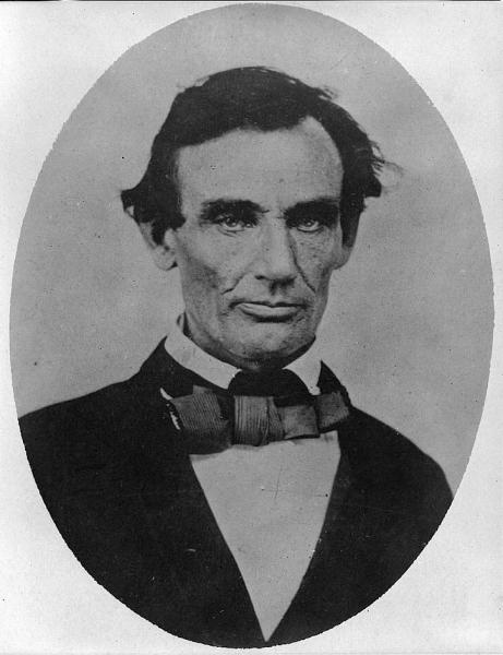 Abraham Lincoln in 1858. Image courtesy of the Library of Congress.