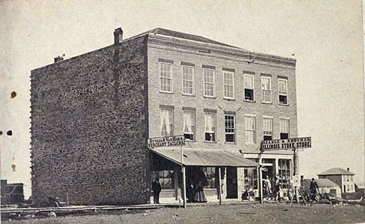 The Gale Block in Topeka, where the Kansas state legislature convened in the 1860s. Courtesy of the Kansas Historical Society.