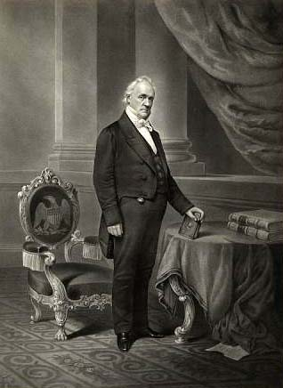 Engraving of James Buchanan, by John Chester Buttre. Courtesy of the Smithsonian Institution.