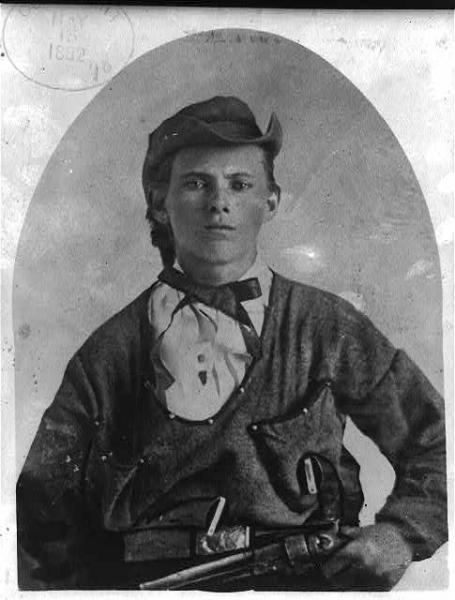 Jesse James, a former bushwhacker in Quantrill's Raiders. Image courtesy of the Library of Congress.
