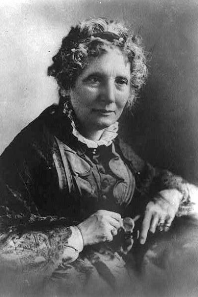 Harriet Beecher Stowe, author of Uncle Tom's Cabin. Image courtesy of the Library of Congress.