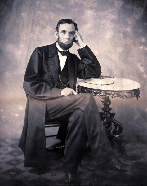 1863 photograph of President Lincoln, taken by Alexander Gardner. Courtesy of Christie's.