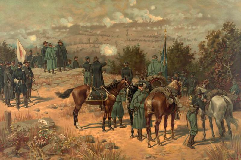Thure de Thulstrup painting of the Battle of Chattanooga. Courtesy of the Library of Congress.