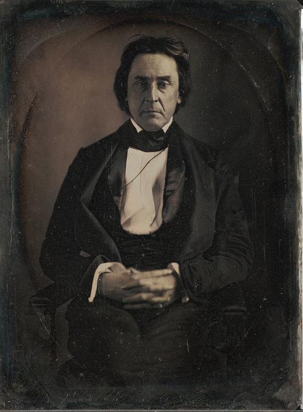 David Rice Atchison, one of the founders of the Law and Order Party in Kansas Territory. Photograph by Matthew Brady. Courtesy of the Beinecke Rare Book & Manuscript Library, Yale University.