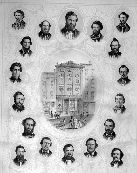 Free Staters elected to the Kansas Territorial Legislature on October 5, 1857. Courtesy of the Kansas Historical Society.