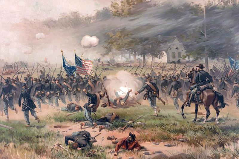 Thure de Thulstrup painting of the Battle of Antietam. Courtesy of the Library of Congress.