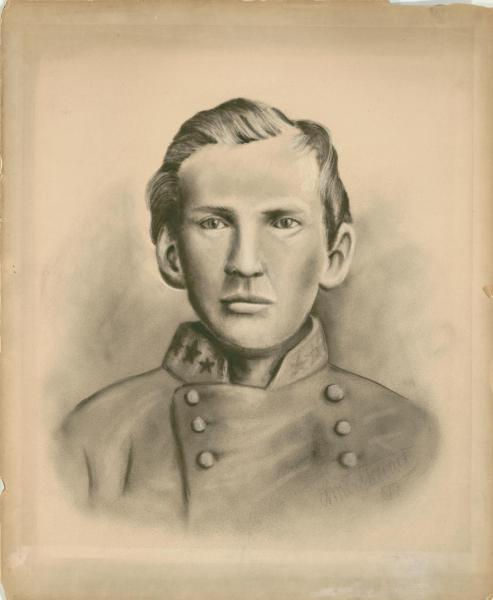 Frank James in Confederate cavalry uniform. Courtesy of Missouri Valley Special Collections.
