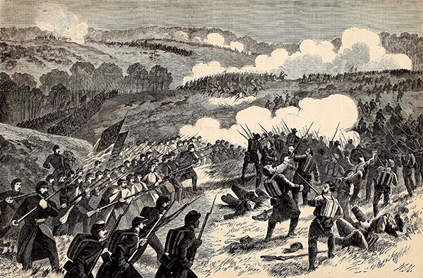 The Battle of Pea Ridge. Courtesy of the Internet Archive.