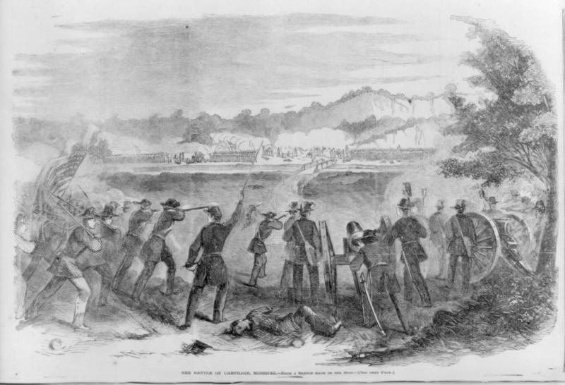 Battle of Carthage, originally published in Harper's Weekly. Courtesy of the Internet Archive.