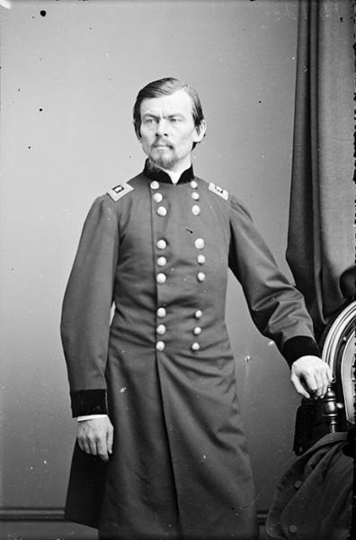 Portrait of Maj. Gen. Franz Sigel, officer of the Federal Army. Courtesy of the Library of Congress.