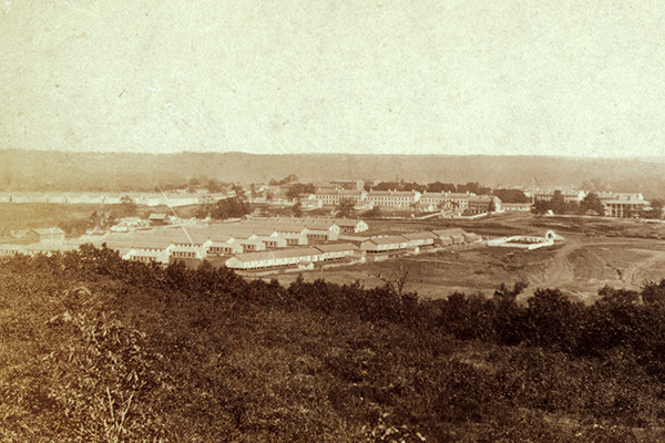 Photograph of Fort Leavenworth, taken in 1867. Courtesy of the Library of Congress.