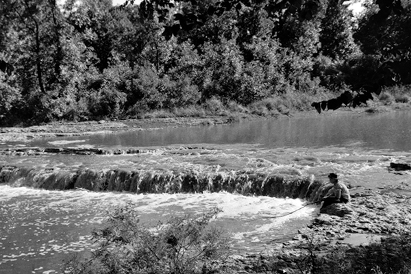 The Little Blue River in Jackson County, Missouri. Image courtesy of the Library of Congress.