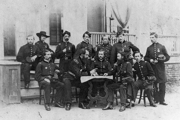 John W. Geary meeting with Union Army officers. Courtesy of the Library of Congress.