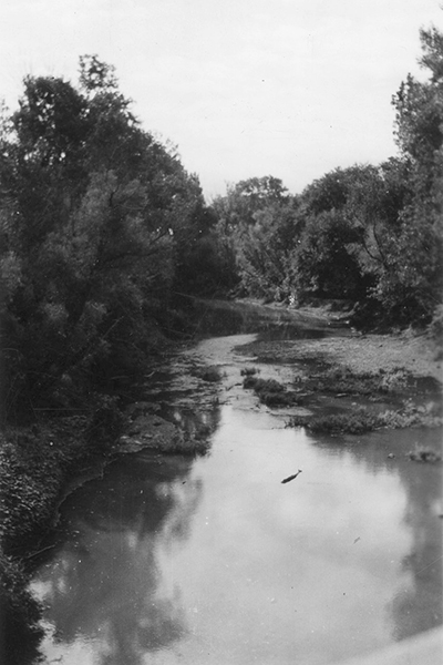 Pottawatomie Creek in Franklin County, Kansas. Courtesy of Kansas Historical Society.