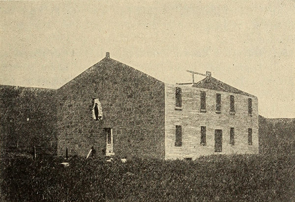 The first capital of the Kansas Territorial Legislature in Pawnee. Image courtesy of the Internet Archive.