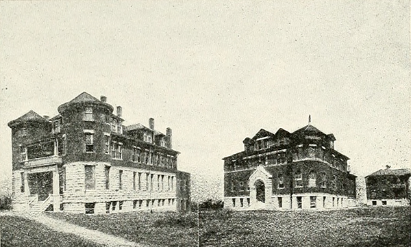 Western University, an African American college in Quindaro, Kansas. Courtesy of the Internet Archive.