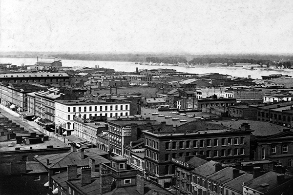Commercial District, St. Louis, Missouri. Courtesy of the Library of Congress.