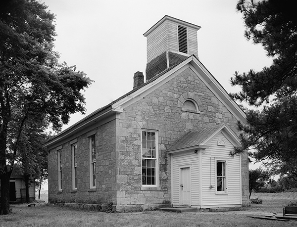 The Beecher Bible and Rifle Church, built during the Civil War in Wabaunsee, Kansas. Photograph courtesy of the Library of Congress.