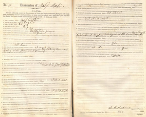 An Oath of Loyalty signed by James G. Adkins. Image courtesy of William Jewell College.