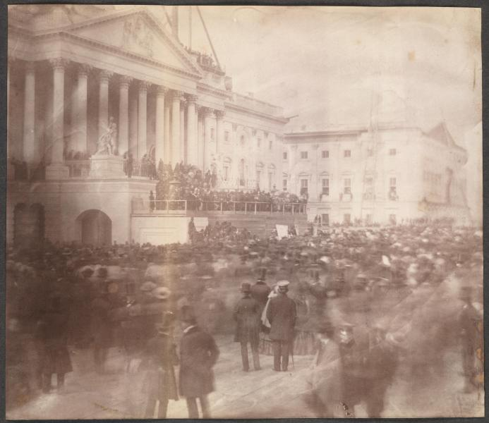 Photograph of the inauguration of James Buchanan. Courtesy of the Library of Congress.