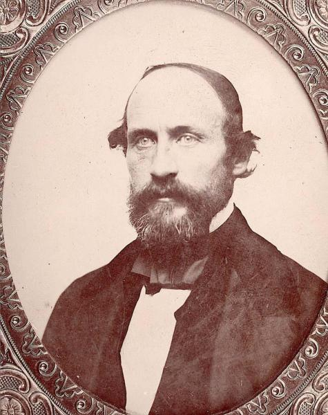 Portrait of Charles Robinson, first governor of the state of Kansas. Image courtesy of the Kansas Historical Society.