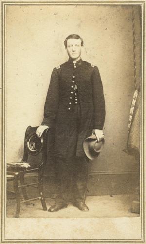 Unidentified member of the Eleventh Kansas Volunteer Cavalry. Image courtesy of the Kansas Historical Society.