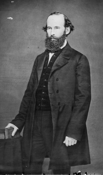 Eli Thayer, founder of the Massachusetts Emigrant Aid Society. Courtesy of the Library of Congress.