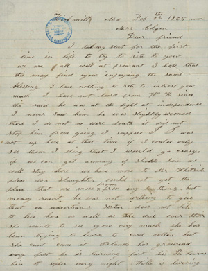Letter from Lizzie Deavenport to Mrs. Colgan. Image courtesy of the Harry S. Truman Library and Museum.