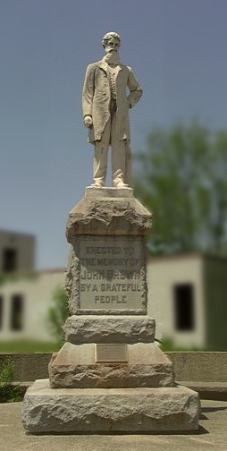 Memorial to John Brown at Quindaro Townsite in Kansas City, Kansas. Courtesy of J.D. Redding.