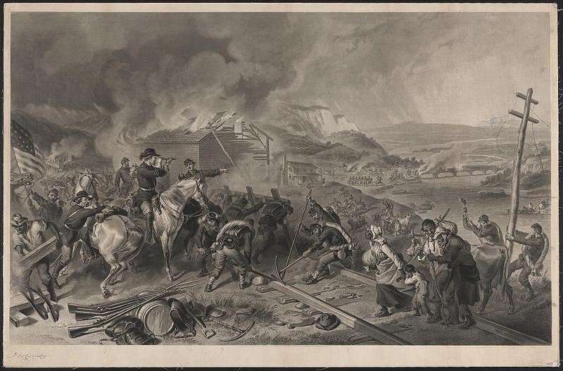 Engraving of Sherman's March to the Sea, by Alexander Hay Ritchie. Courtesy of the Library of Congress.