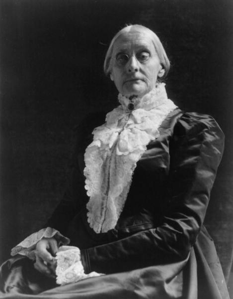 Susan B. Anthony, sister of Daniel R. Anthony, abolitionist, leader of the temperance movement, and women's suffragist. Image courtesy of the Library of Congress.