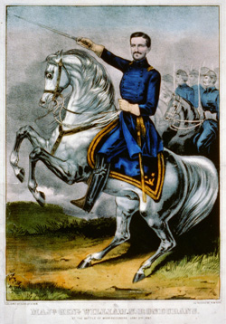 Maj. Gen. William S. Rosecrans at the Battle of Murfreesboro. Image courtesy of the Library of Congress.