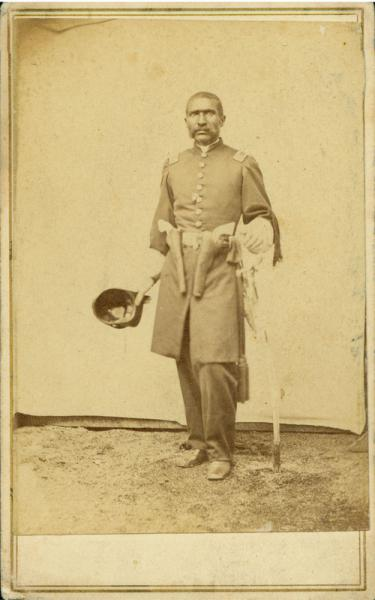 Captain William Matthews, 1st Kansas Colored Volunteers. Image courtesy of the Kansas Historical Society.