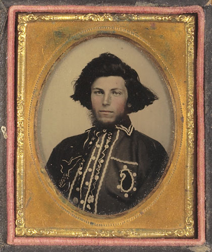 "Ambrotype of ""Bloody Bill"" Anderson, a Confederate guerrilla who earned his nickname for his brutal performance in the deadly Centralia Massacre and in Quantrill's Raid on Lawrence. Courtesy of Wikimedia Commons."