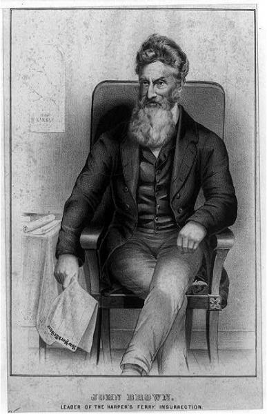 A Portrait of John Brown. Image courtesy of the Library of Congress.