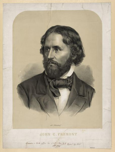 Portrait of John Charles Frémont, ca. 1856. Printed by J.H. Bufford. Courtesy of the Library of Congress.