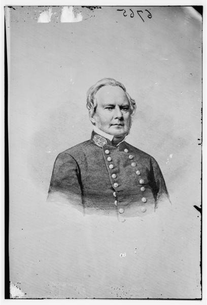 Major General Sterling Price led the largest Confederate cavalry raid of the war. Courtesy of the Library of Congress.