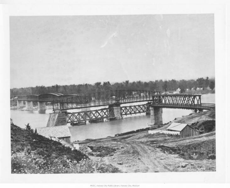 The Hannibal Bridge. Courtesy of the Missouri Valley Special Collections.
