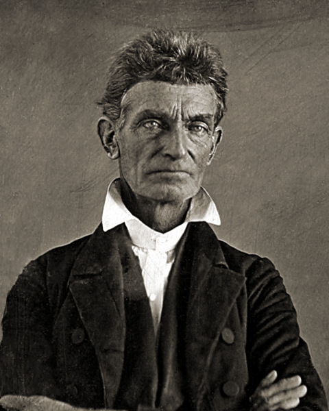 John Brown sought revenge for the Sack of Lawrence by murdering five proslavery men near the banks of the Pottawatomie Creek. Wikimedia Commons image.