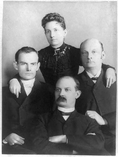 Bushwhacker Cole Younger with his siblings, Robert, Henrietta, and James. Image courtesy of the Library of Congress.