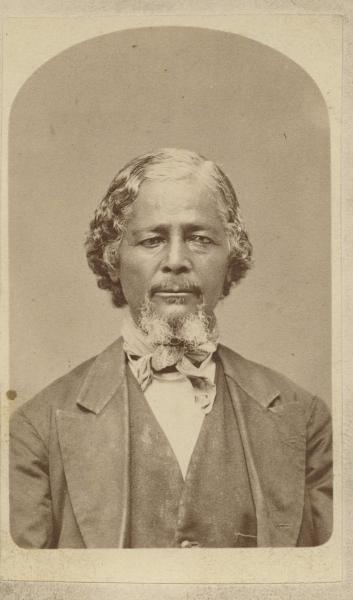 "Benjamin ""Pap"" Singleton, a former slave from Tennessee, became known as the leader of the ""Exoduster Movement."" Image courtesy of the Kansas Historical Society."