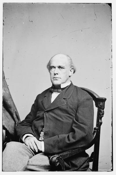 "Senator Salmon P. Chase condemned the Kansas-Nebraska bill as ""an atrocious plot"" to claim the territory for ""masters and slaves."" Image courtesy of the Library of Congress."